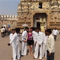 me being mobbed outside the Maharaja's palace :-)