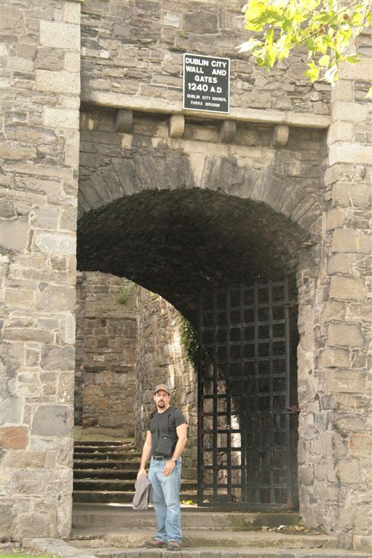 James by Dublins old City wall