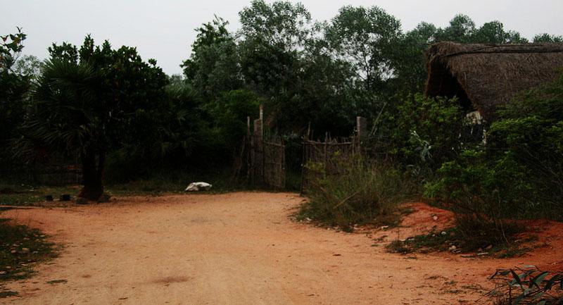 Front gate at Sadhana