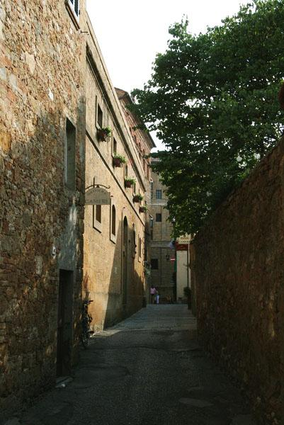 Side street in a village by the Mariottis house