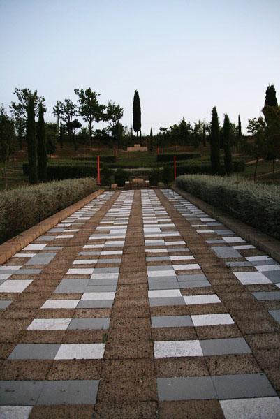 Tiles in the garden