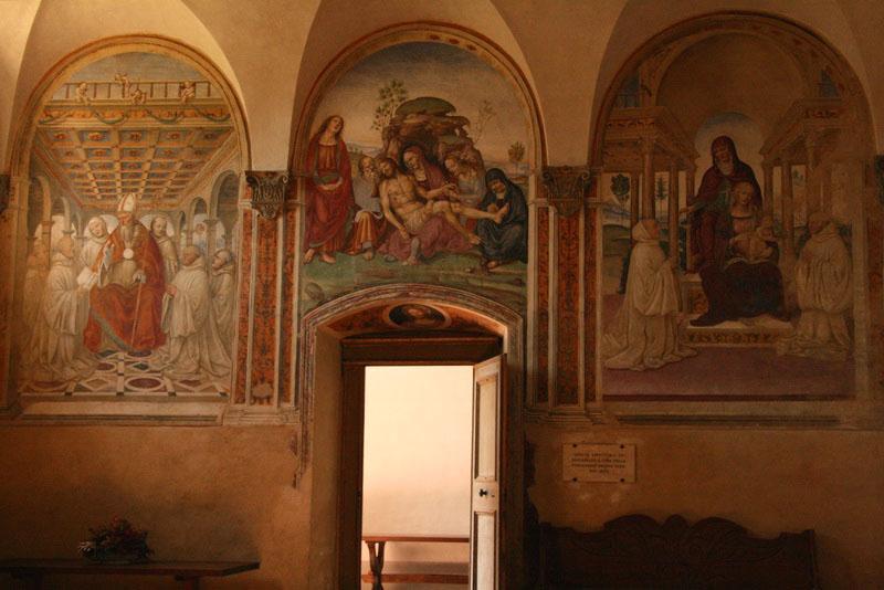 Frescos in Sant'Anna in Camprena Monastery
