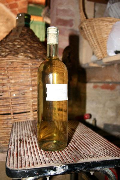 Freshly bottled Vino from the Amalfi Coast