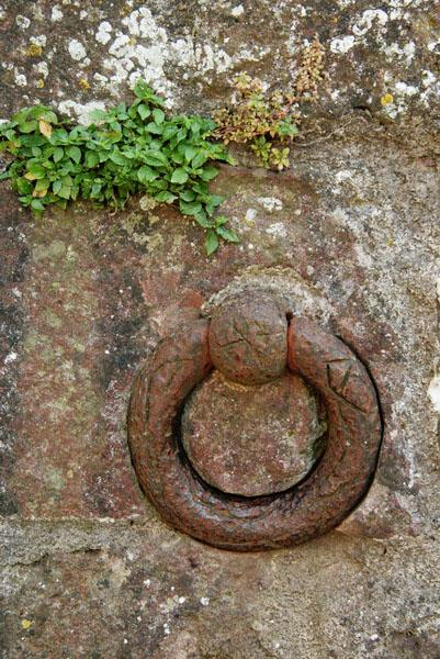 Old ring for tying up horses in the fortress walls