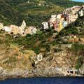 View of Corniglia from the Mediterranean