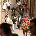 Drago Contrade procession to the church