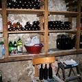 Wine rack in Trove's cellar