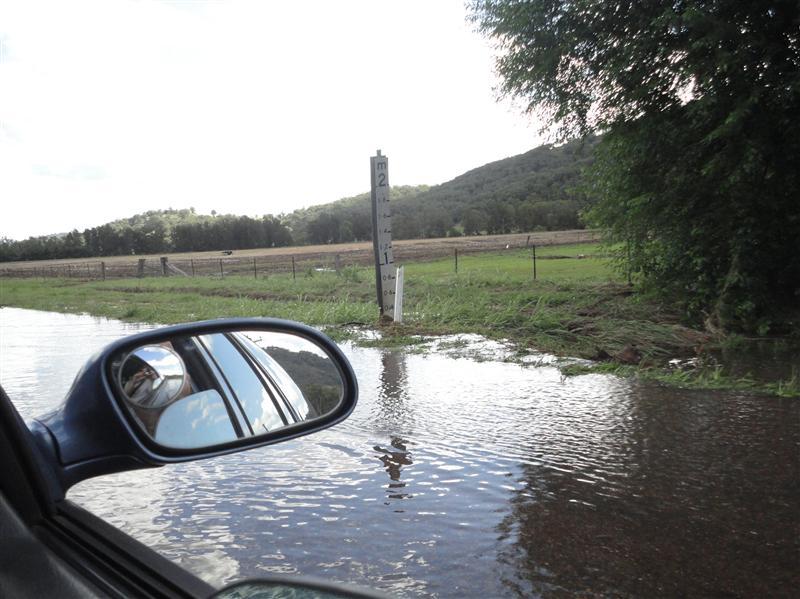 The road underwater