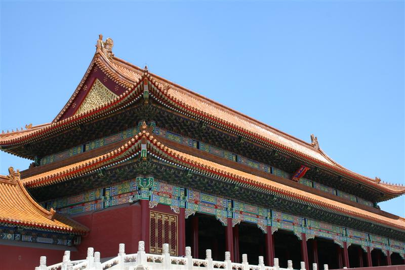 buildings all looked like this in forbidden city!
