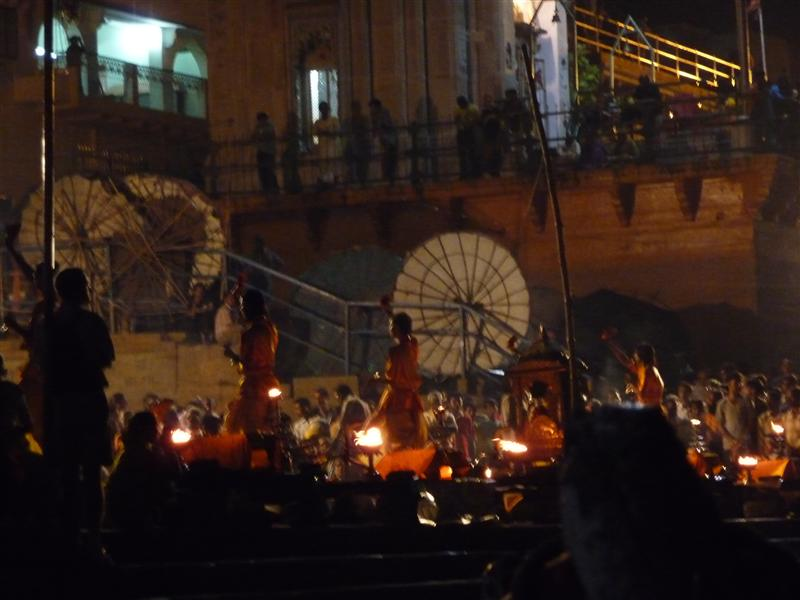 Evening Aarti ceremony at Main Ghat