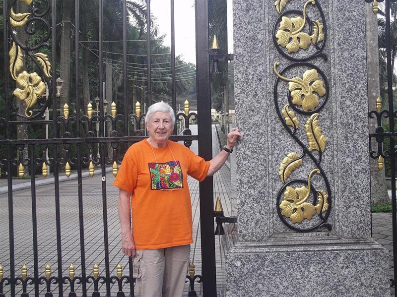 At palace gate