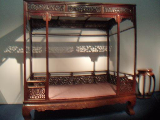 Ming Dynasty bed in museum