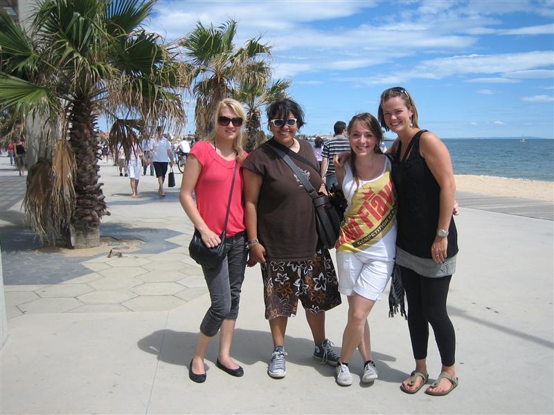 St Kilda beach met mn German roommates