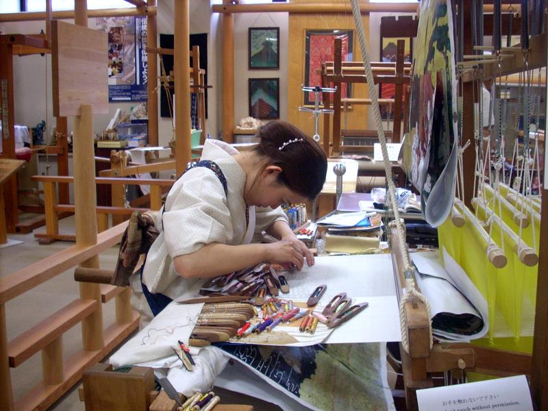 Craft artist at work