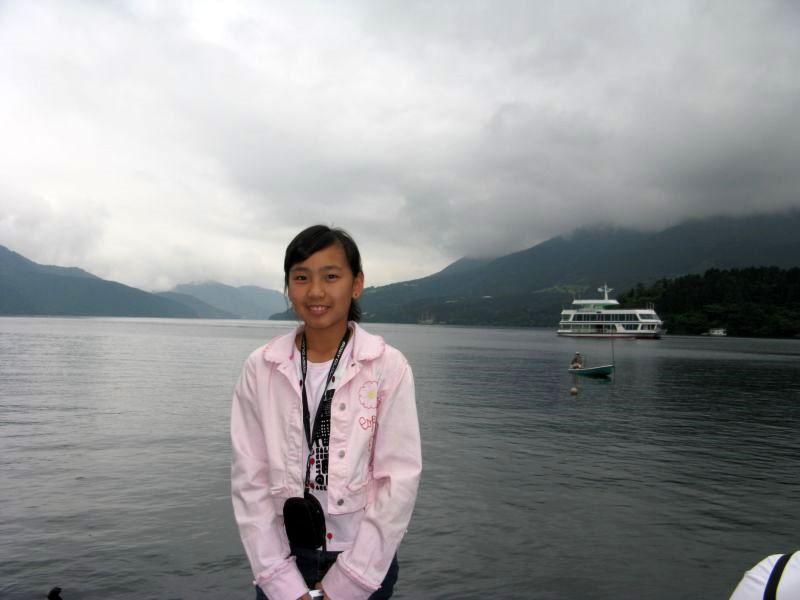 Ashley at Lake Ashi