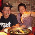 The Koreans showing us how eating oysters is done