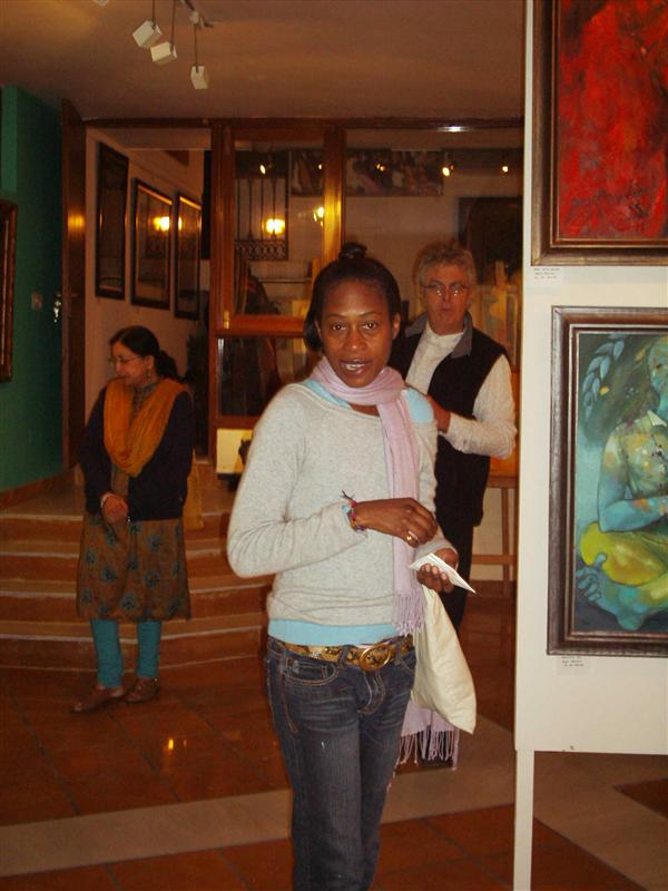 Pamella and me at Farrago Art Gallery