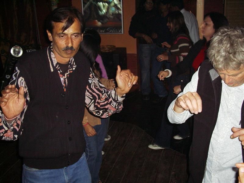 Dancing at Stayin' Alive in Gurgaon with Sunil