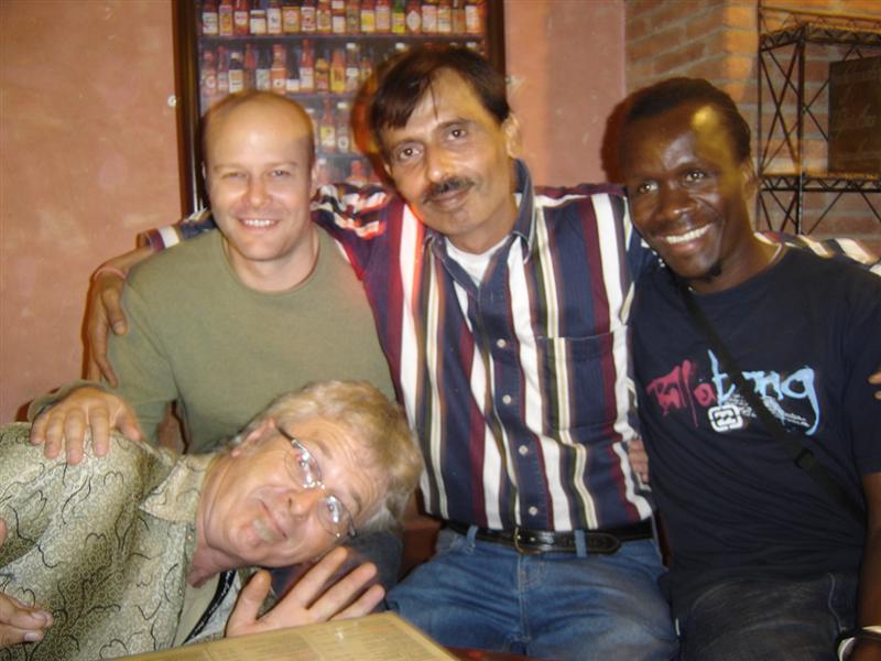 John, Eric, Sunil and Nataniel at the Turquoise Lounge