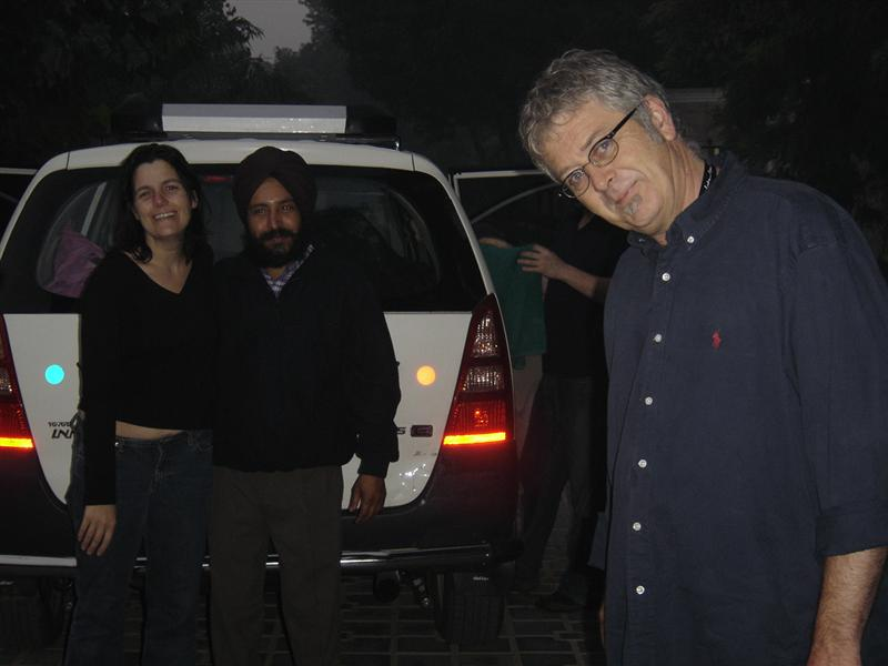 Our beloved taxi driver with me and Irene