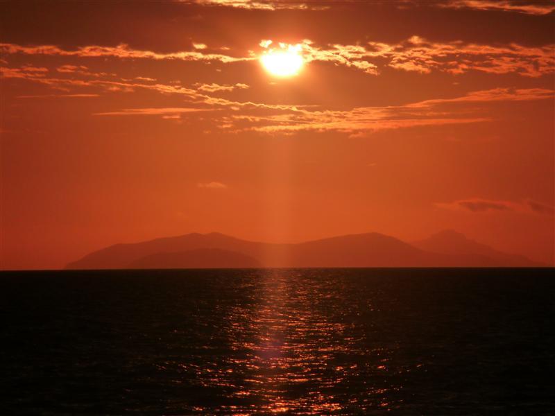 Sun set @ Beachcomber island
