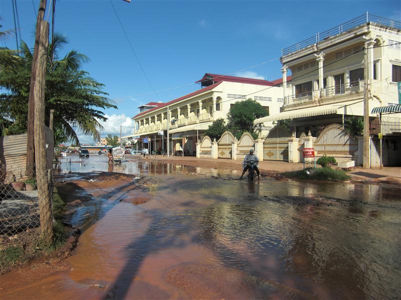 Así nos encontramos Siem Reap... inundadete