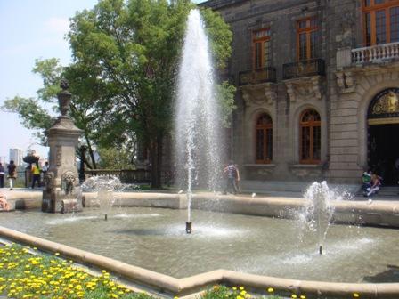 fuentes internas del Castillo de Chapultepec