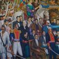 mural de guerreros mexicanos