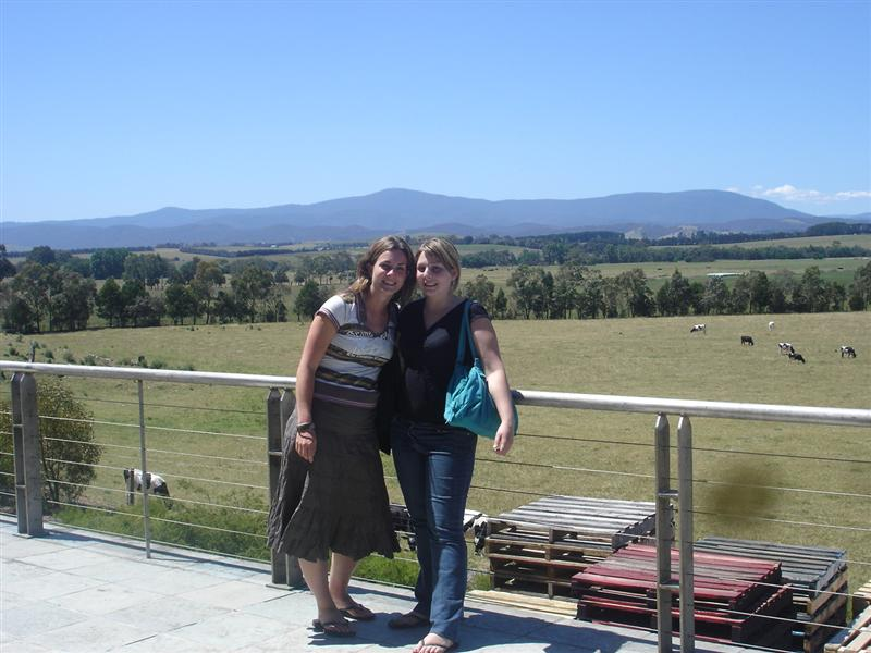 Tweedle Dum and Tweedle Dee at one of the wineries