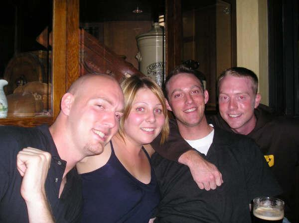 Jonathan, Me, Todd and Nick in Danny Doolans