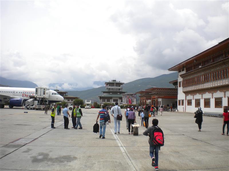 arrival in Paro