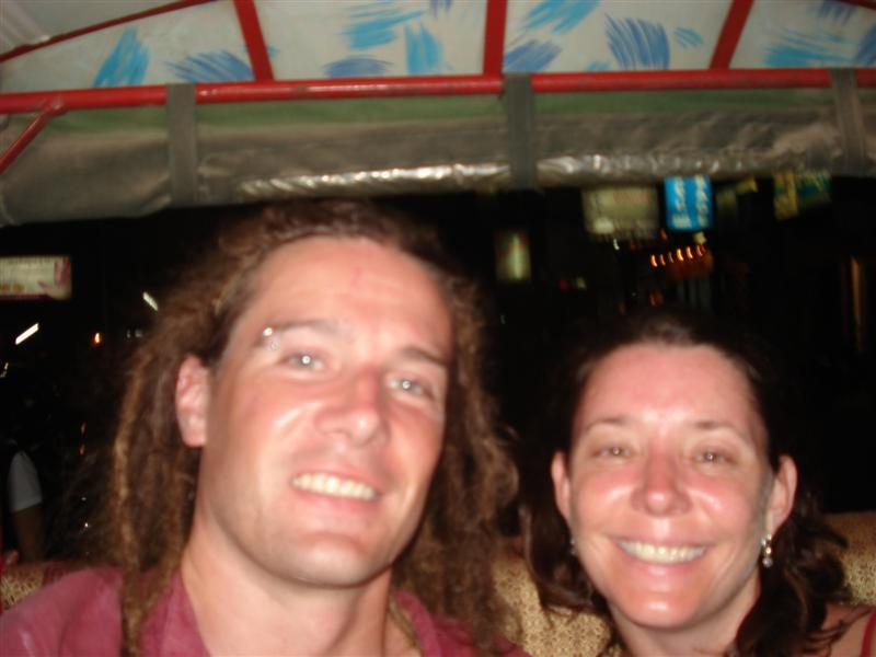 In a tuktuk in Phnom Penh