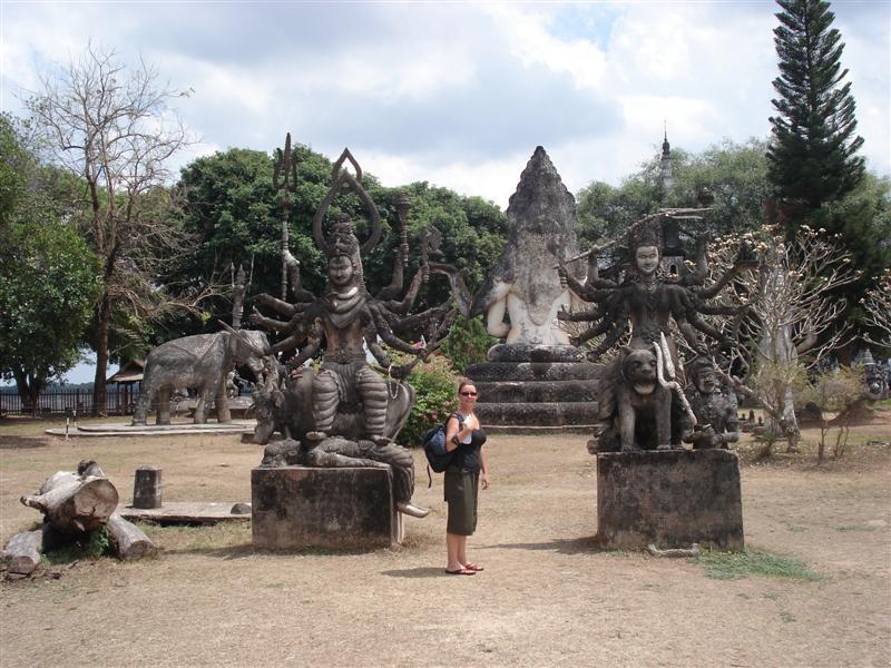 Hindu gods at Buddha Park