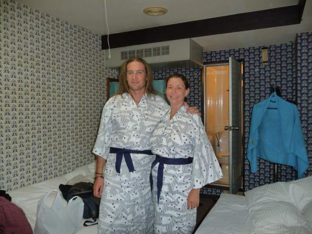 Silly dressing gowns at the business hotel