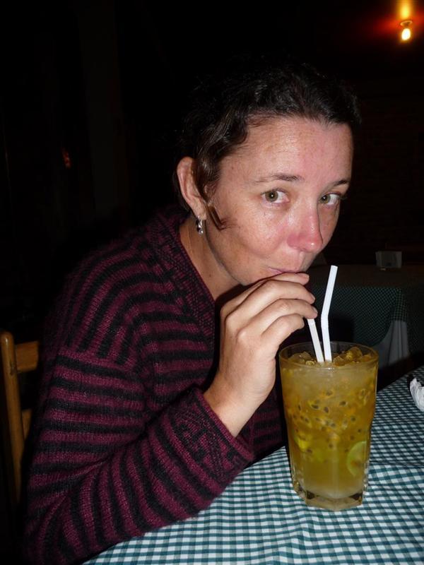 Joanne drinking