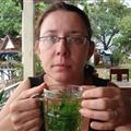 Joanne with real mint tea