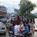 All-day traffic jam and flood