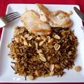 My grilled chicken, wild rice, and peanuts