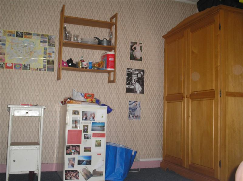 one side of my room.