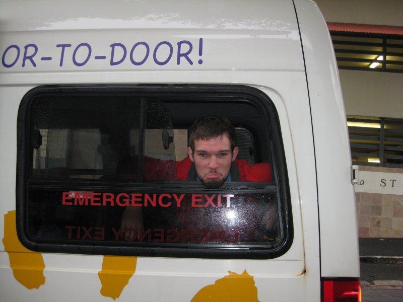 An emotional traveller setting off
