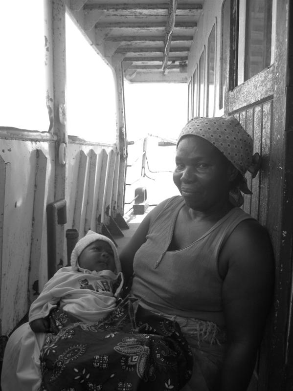 A Proud Gran On The Ferry To Catembe