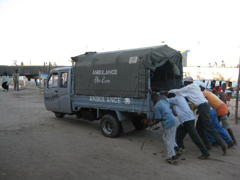 Presenting the Lamu ambulance