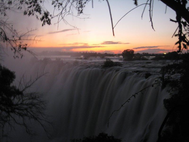 Sunset At Vic Falls