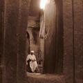 One of the many priests in Lalibela