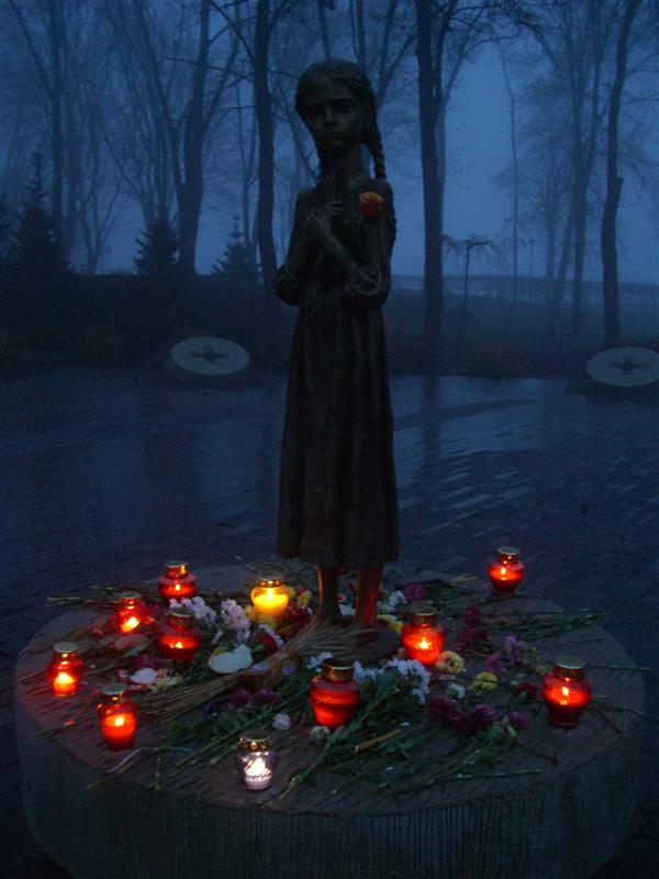 Memorial for the great famine in which 4 million Ukrainians died.
