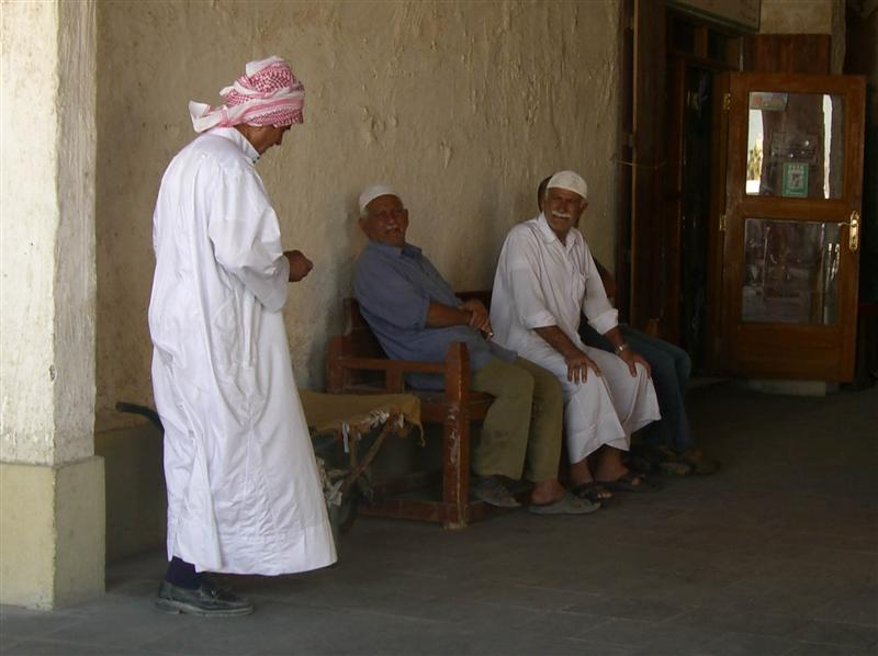 Old Qataris in the souk.