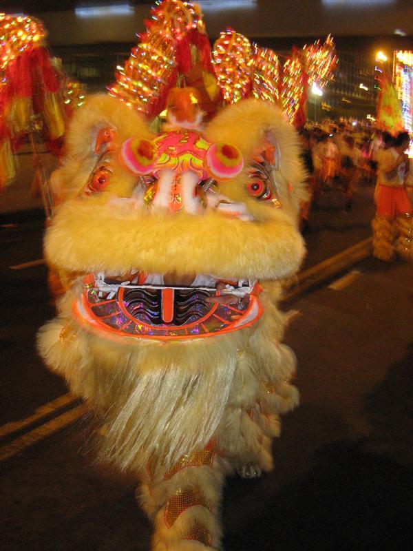Draak in Hong Kong Chinese New Year Night Parade