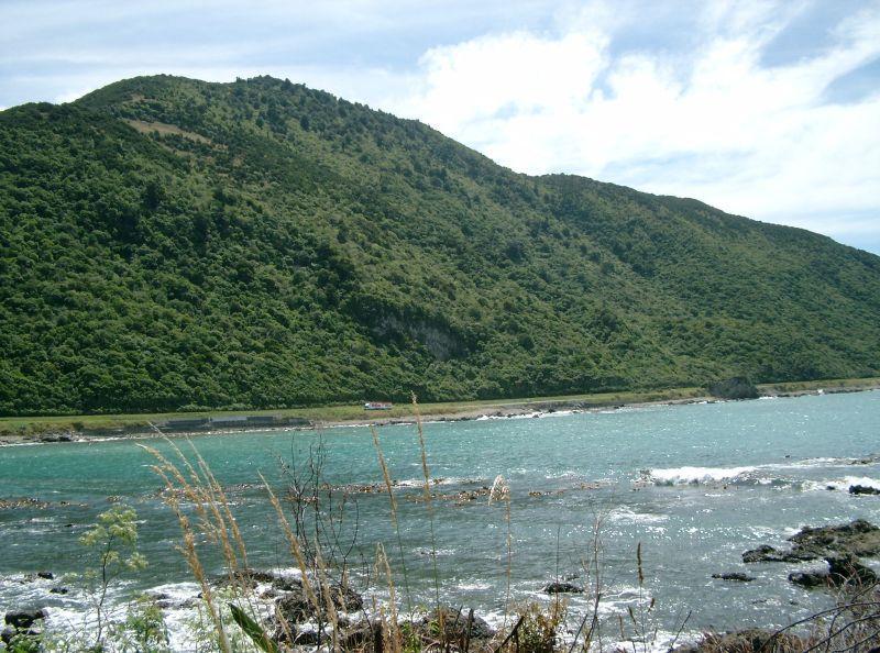 Coastline approaching Kaikoura