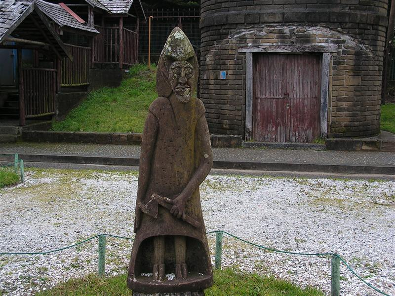 ugly face statue