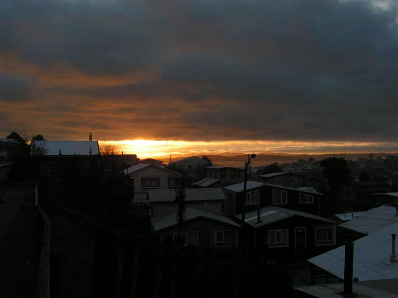 sunset in ancud